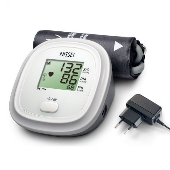 NISSEI DS-10a Automata felkaros vérnyomásmérő hálózati adapterrel