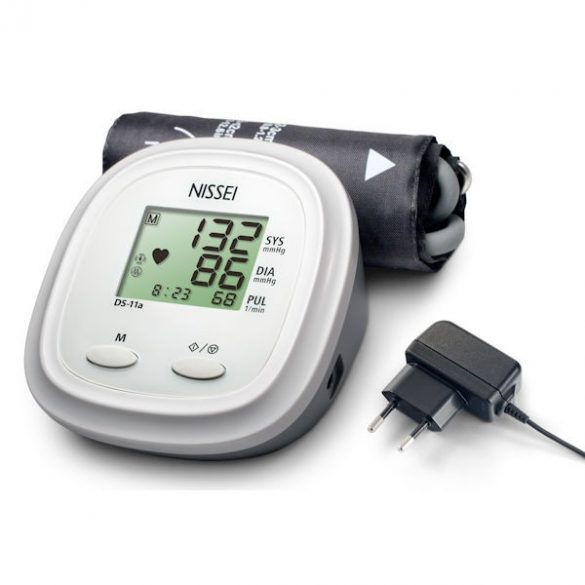 NISSEI DS-11a Automata felkaros vérnyomásmérő hálózati adapterrel