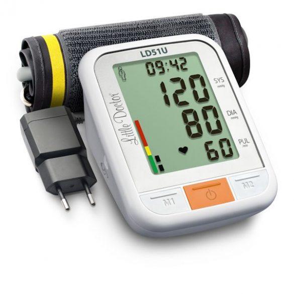 Little Doctor LD51U Automata felkaros vérnyomásmérő hálózati adapterrel