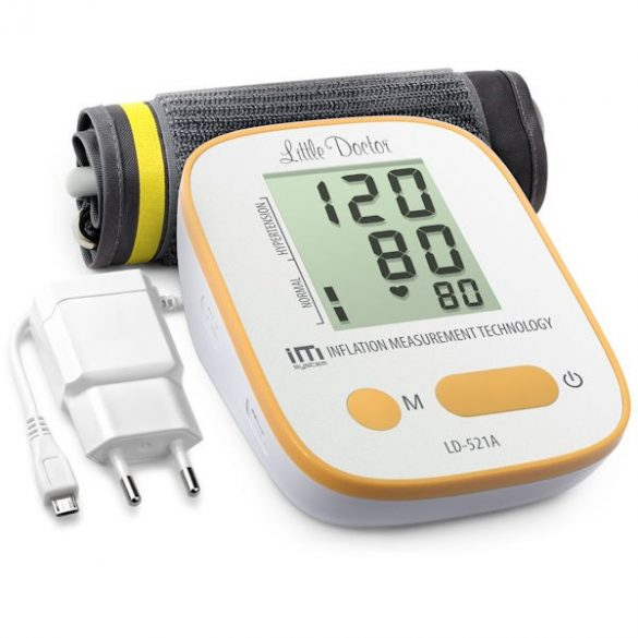 Little Doctor LD521A Automata felkaros vérnyomásmérő hálózati adapterrel