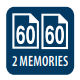 2x60 memória